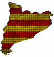 catalonia map with flag inside vector image