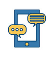 chatting with smartphone vector image