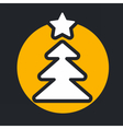 christmas circle yellow icon new year vector image vector image