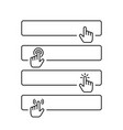 click submit blank button in line style design vector image vector image