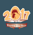 Cock and 2017 figures vector image vector image