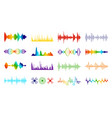 color sound waves audio digital melody wave vector image