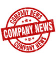 company news round red grunge stamp vector image vector image