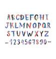 creative latin font or english alphabet hand drawn vector image