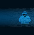cyber technology security hacker vector image vector image