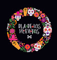 day of the dead dia de los muertos banner with vector image vector image