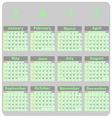 Design demo 2017 calendar template vector image vector image