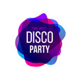 disco party trend frame typography vector image vector image