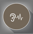 ear hearing sound sign white icon on vector image vector image