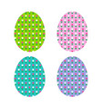 easter egg shapes with tulip pattern vector image vector image