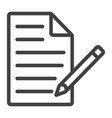 edit document line icon web and mobile edit file vector image