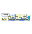 factory production conveyor automatic assembly vector image