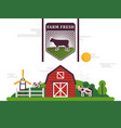 farm product label flat vector image