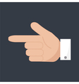 forefinger icon vector image vector image