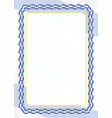 frame and border of ribbon with israel flag vector image