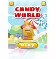 game ui candy world match 3 set game buttons and vector image vector image