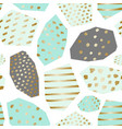 gold green gray abstract shapes geometric pattern vector image vector image