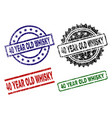 grunge textured 40 year old whisky stamp seals vector image