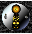 Halloween card or background art vector image