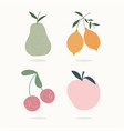 hand drawn contemporary fruits trendy print vector image vector image