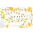 happy birthday celebration party banner golden vector image vector image