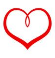 heart romantic love graphic vector image vector image