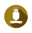 Heraldic symbol protection shield with king crown vector image vector image