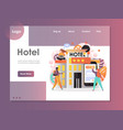 hotel website landing page design template vector image