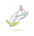 icon female hands vector image