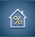 Interest on the mortgage vector image vector image