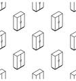 isometric wardrobe seamless pattern vector image vector image