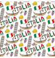 italy seamless pattern with flag and culture vector image vector image