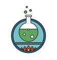 laboratory tube retro circle icon science vector image