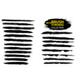 large set different grunge brush strokes vector image vector image