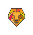 Lion Head Low Polygon vector image