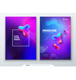 liquid color cover set fluid shapes composition vector image