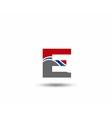 Logo E Letter company design template vector image vector image