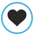 Love Heart Flat Rounded Icon vector image vector image
