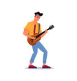 man playing guitar guitarist string instrument vector image