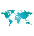 map of world blue silhouette vector image vector image