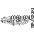 medical malpractice and legal matters text vector image vector image