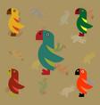parrots set vector image vector image