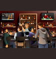 people hanging out in a bar vector image vector image