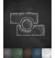 photo editor icon Hand drawn vector image vector image