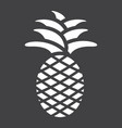 pineapple solid icon fruit and tropical vector image vector image