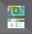 premium colorful business card vector image