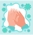 protection hands against coronavirus microbes vector image vector image