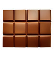 realistic chocolate bar on a white isolated vector image