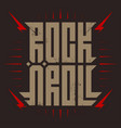 Rocknroll - music poster with stylized