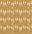 seamless background crop oat wheat barley vector image